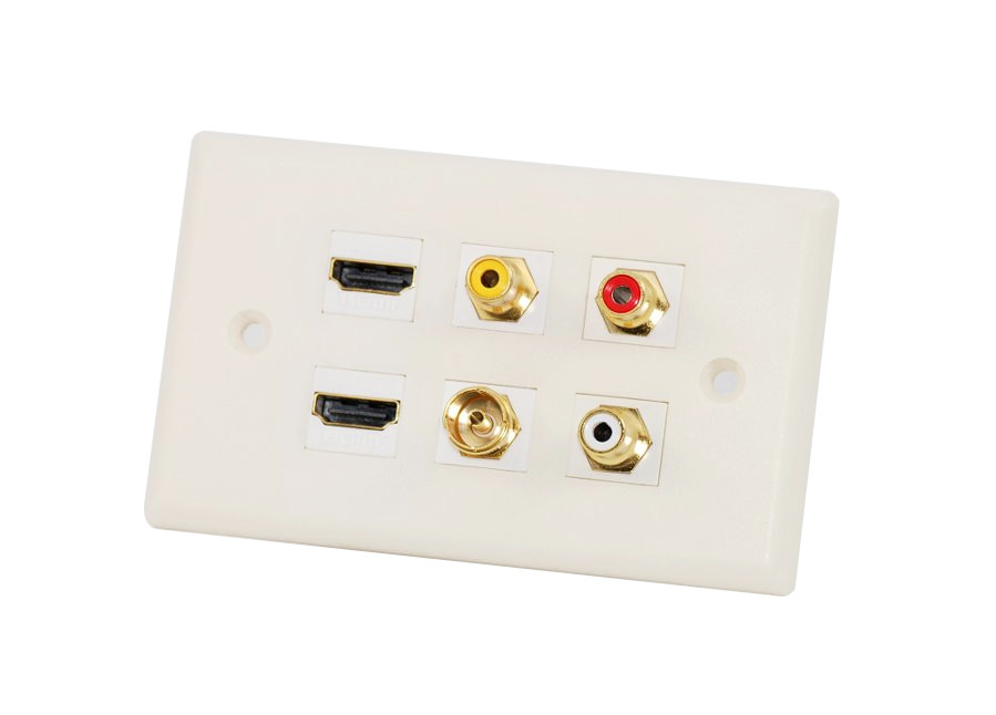 custom wall plate 2 hdmi 3 rca antenna pal this wall plate uses the