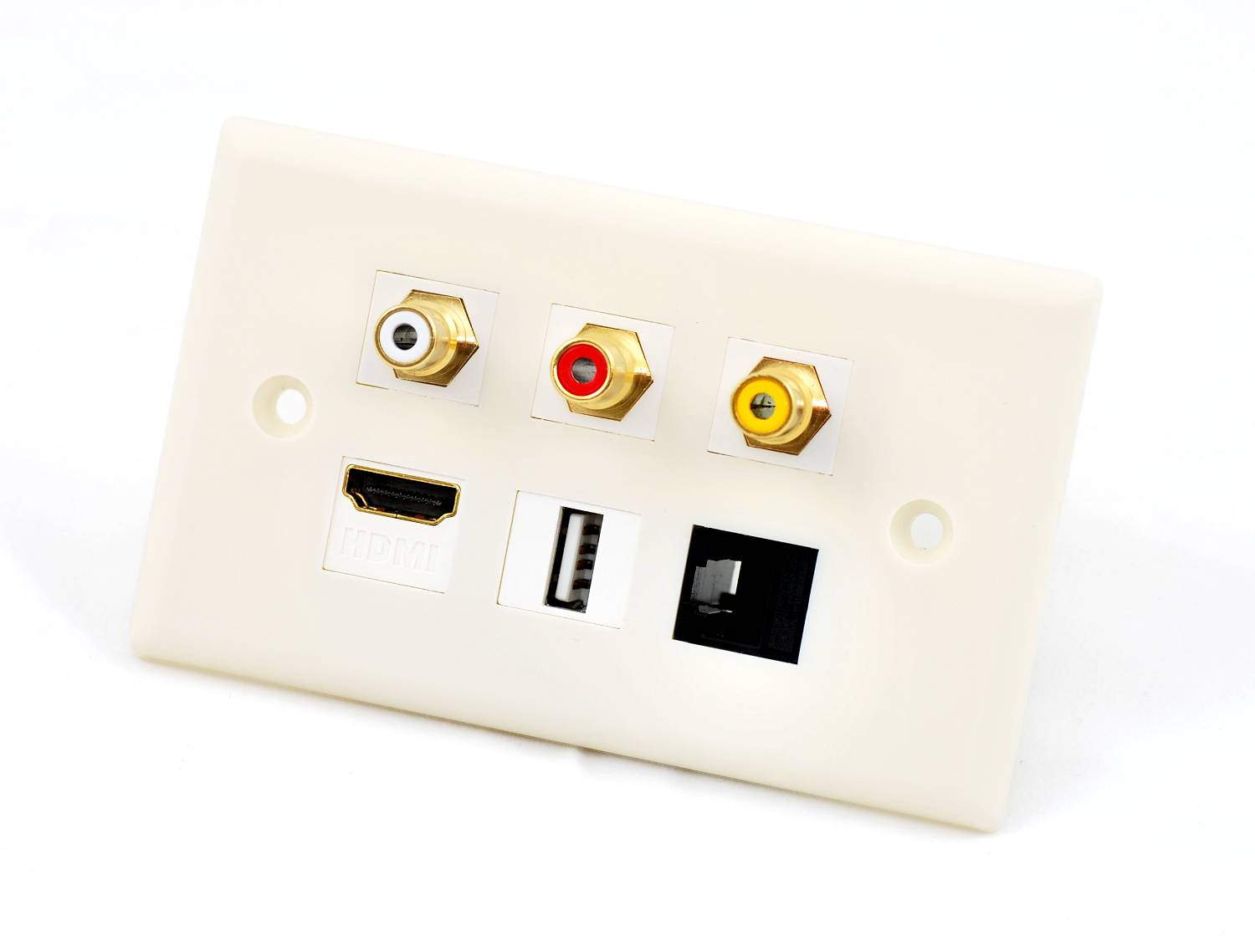 custom wall plate hdmi rj45 usb 3 rca this wall plate uses the