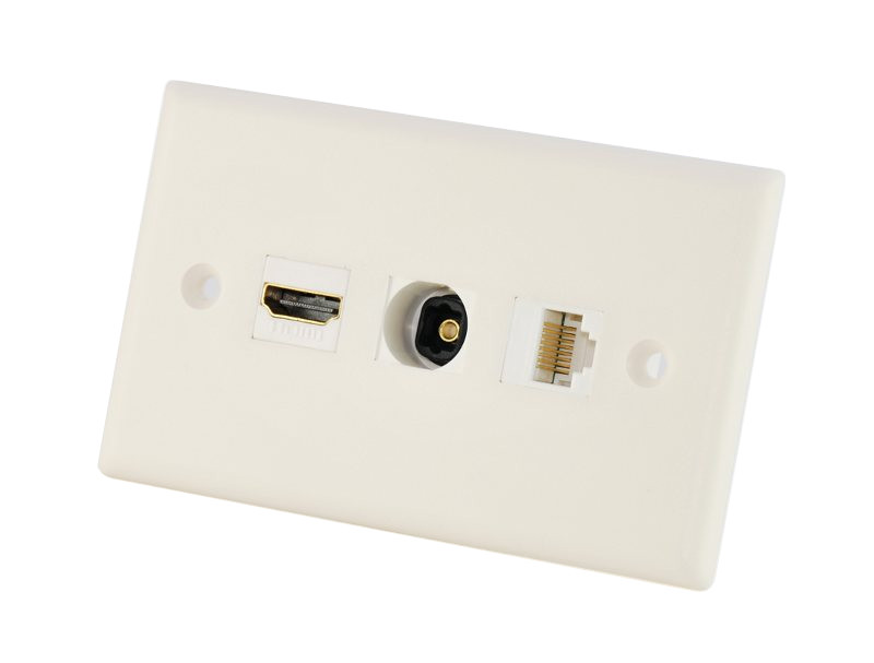 custom av wall plate hdmi toslink rj45 this wall plate uses the