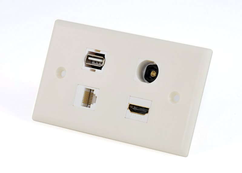 custom av wall plate hdmi toslink rj45 usb this wall plate uses the