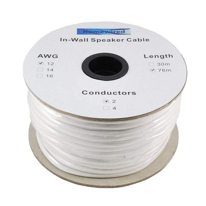 Speaker Cable In-Wall 2 wire 12 AWG 30m-76m | Homewired